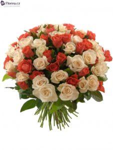 Kytice růží - míchané růže